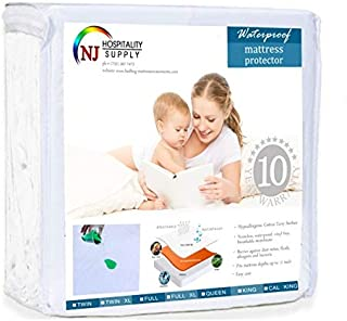 Mattress Protector Premium Cotton Terry Fitted Cover Hypoallergenic, Waterproof, Dustmite Proof, Vinyl Free, Deep Pocket Breathable Fabric - Sleeper Sofa Queen 60 by 72 inches - Depth 12 inch