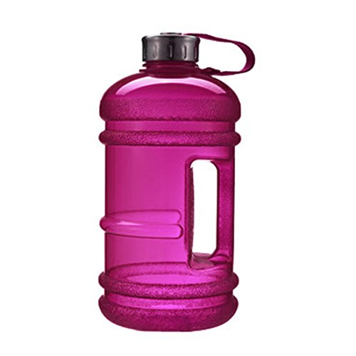 Sport-Wasser-Flasche mit großer Kapazität von 2,2 L, inklusive Getränk-Kappe für Outdoor-Aktivitäten, violett