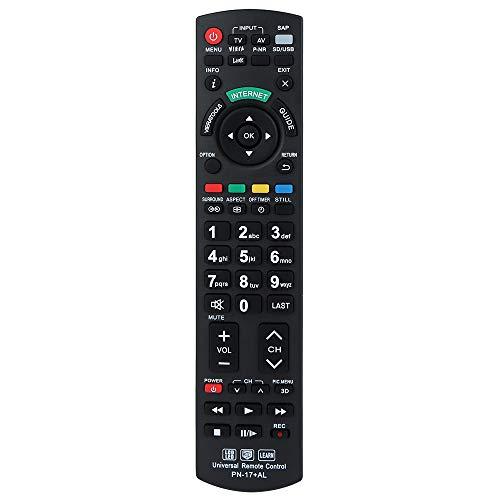 Alkia N2QAYB000752 Fernbedienungskompatibel Ersatz für Panasonic Fernseher - TX-L32ET5B, TX-L32ET5E, TX-L32ET5Y