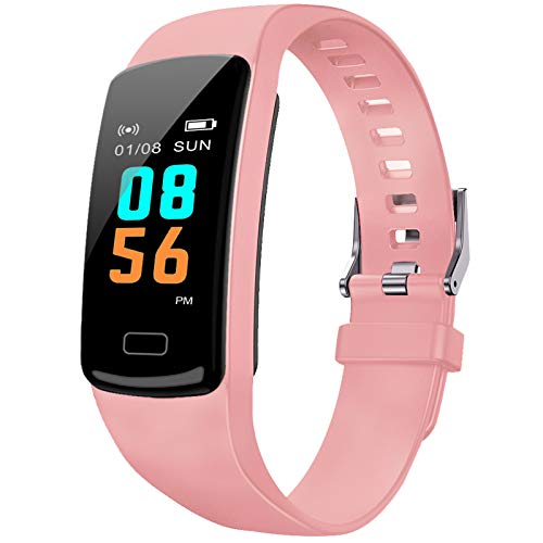 PUBU Fitness Tracker HR, Activity Tracker Watch with Heart Rate Monitor, Waterproof Smart Fitness Watch with Sleep Monitor Step Counter, Call Notice Smart Fitness Band for Kids Women Men