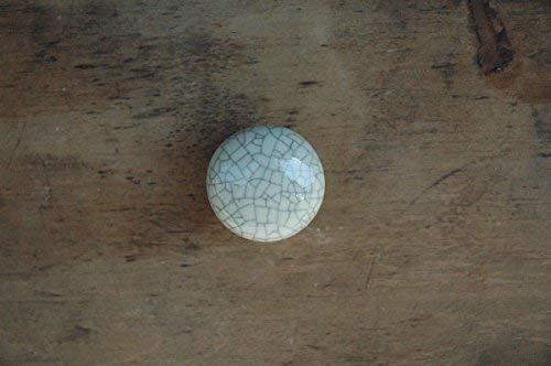 Vintage Pomello Mobili Pomello Maniglia per Cassetto Shabby Chic Ecru Craquele Ceramica? 3cm