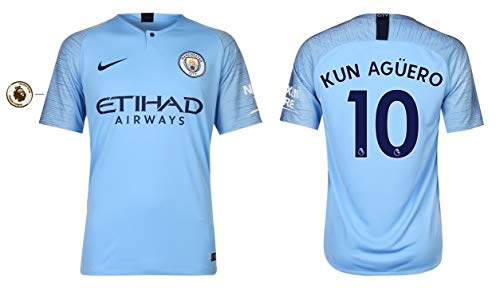 Manchester City Trikot Herren 2018-2019 Home PL - Kun Aguero 10 (XL)