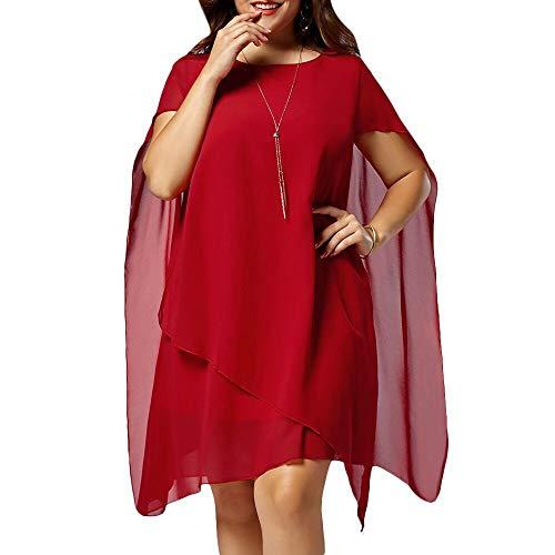 Auimank Women's Ugly Christmas Tunic Dress Long Sleeve Santa Xmas Gifts Print Flared Swing Dress(Red,X-Large)