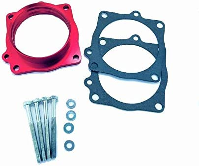 Billet Red Throttle Body Spacer For 07-0 Durango 04-08 Los Angeles Mall Raleigh Mall 03-08 Ram