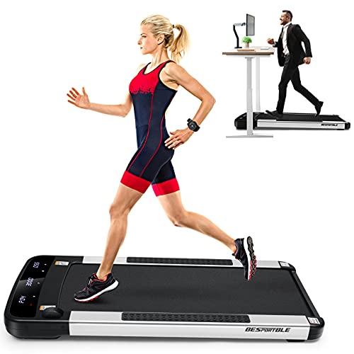 Laufband Unter Schreibtisch Walking Pad Elektrischer Laufband bis 6 Km/ h Unter Schreibtisch 1. 5HP mit LED- Display Dünne Flache Laufband Tragbare Jogging Laufende Maschine mit Fernbedienung