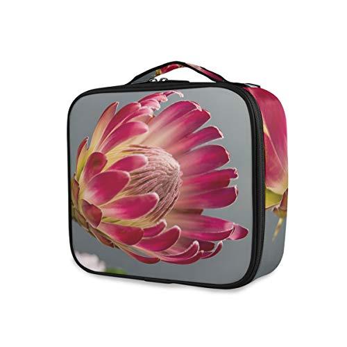 Protea Bloom Trousse de Maquillage Professionnelle avec Fleur Rouge