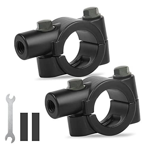 ANVAVA Lenkerhalterung 8mm für Fahrradspiegel, 2 Stück Aluminium Universal Spiegelhalter Spiegelhalterung Motorrad Spiegel Halterung für Motorrad Fahrrad Lenker, Schwarz