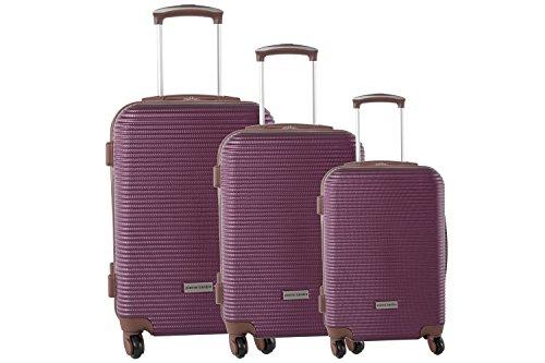 Set valigie trolley 3 pezzi rigido PIERRE CARDIN vino cabina da viaggio S190