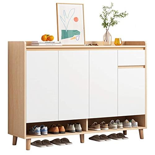 QHHALXZ Gabinete de zapatos Interior del hogar Puerta simple guapa, estante a prueba de polvo, almacenamiento que ahorra espacio, estante para zapatos (color: blanco, tamaño: 120 x 32 x 140 cm)