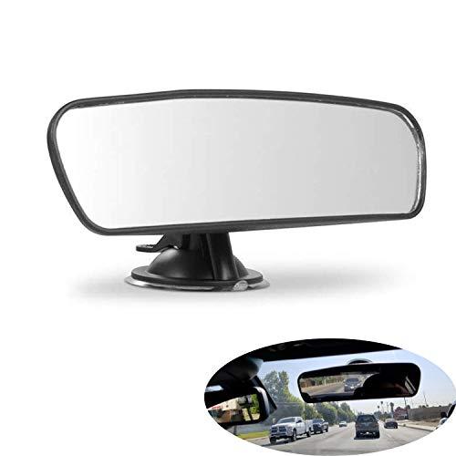 Rear View Mirror, Universal Car Truck Mirror Interior Rear View Mirror Suction Cup Rearview Mirror… (Plain Mirror, Width 21.5cm/8.5in)
