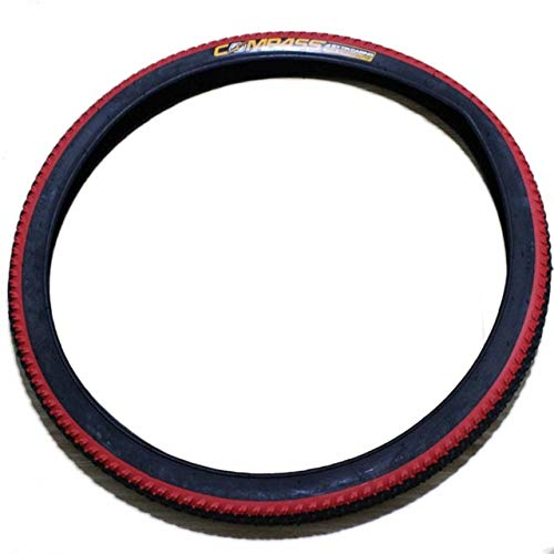 LXRZLS Folded Tire 20 * 1.95 Bike Iron Cap Belt Stap Proof Bicycle tire 5 color (Color : Red)