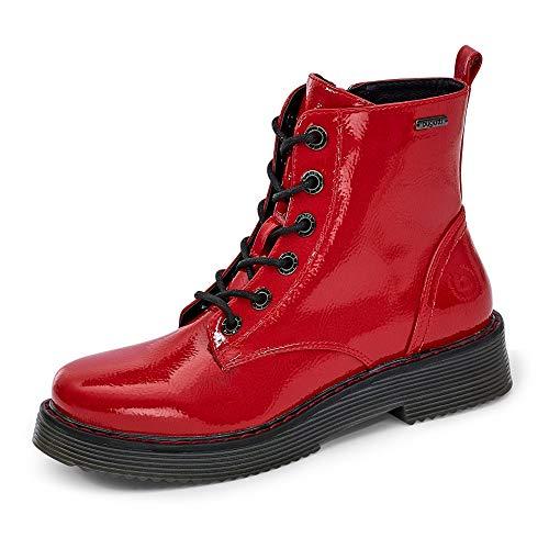 bugatti Damen 431549325700 Stiefelette, red, 38 EU