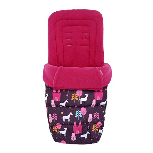 Cosatto Universal Footmuff – Cosy Toes, All Season Quilted Pushchair Liner, Washable (Unicorn Land)