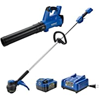 Kobalt 24-Volt MAX Lithium-Ion Cordless String Trimmer and Leaf Blower Power Equipment Combo Kit with 4.0-Ah Battery and 45-Watt Charger (KOC 4124A-03)