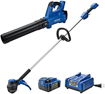 Kobalt 24V MAX Cordless String Trimmer & Blower with Battery & Charger