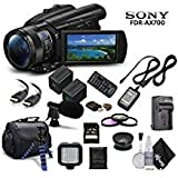 Sony Handycam FDR-AX700 4K HD Video Camera Camcorder + Extra Battery and Charger + 3 Piece...