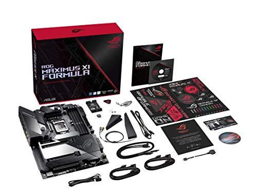 Asus 390 ATX Intel, ROG Maximus XI Formula, Scheda Madre Gaming con Dissipatore M.2, LED Aura Sync RGB, DDR4 4400 MHz, 802.11ac Wi-Fi, Doppio M.2, SATA 6Gb/s, USB 3.1 Gen 2, Nero