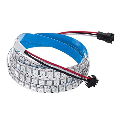 AMNVBD DC5V 2M 288LED WS2812B 5050SMD IC Incorporado IC No Impermeable RGB LED Lámpara de Tira KTV Bar Escaleras Inicio (Size : 2m)
