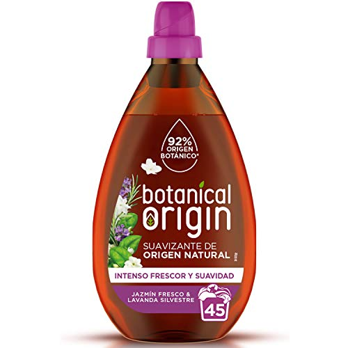 Botanical Origin Suavizante para ropa ecológico apto para pieles sensibles, Fragancia Jazmín Fresco y Lavanda Silvestre - 45 lavados