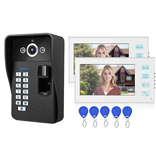 idalinya Timbre con Video, con Panel de Sensor táctil Teléfono a Prueba de Lluvia, para videovigilancia en el hogar 25 Tonos de Llamada Opcionales(Transl)