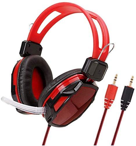 Casque Gaming, Casque, Ordinateur Musique Jeux-Rouge, Nom Couleur: Rouge (Couleur: Rouge) zhihao (Color : Red)