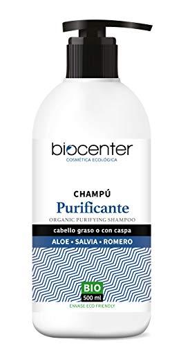Biocenter Top Champú Purificante Aloe Salvia Romero - Envase Ecofriendly 500 ml
