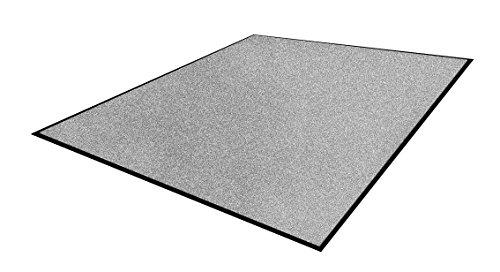 Andersen 1959043 Classic Impressions Solid Nylon Faser Innenraum Bodenmatte, Nitrilgummirücken, 830 g/sq. m, 75 cm Breite x 85 cm Länge, Mittelgrau