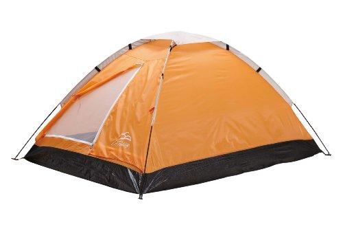 L.A. Trekking Campingzelt Igluzelt Riga 2, orange/schwarz, 200 x 140 x 100 cm, 82180