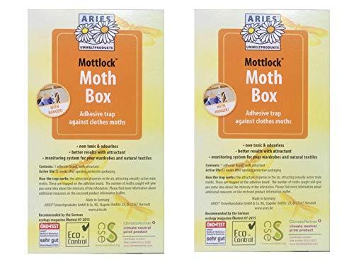 Mottlock Efficace antimites Naturel Sticky Piège à phéromones Lot de Deux–Meilleur Taux de Catch sur Le marché.