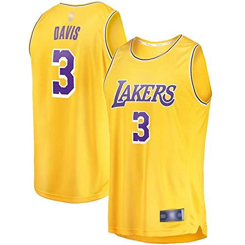 Al aire libre camisetas de baloncesto Anthony Lakers #3 Los Angeles Davis 2019/20 Réplica de Réplica de Oro Transpirable Ropa Deportiva Para Hombres - Icono Edición