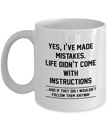 Taza de café con instrucciones (idioma español no garantizado)