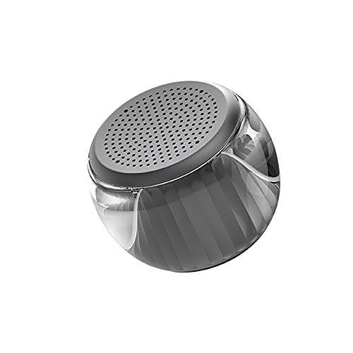 XIANNVV Altavoz Bluetooth portátil, Altavoz Bluetooth 5.0 Altavoz inalámbrico recargable USB, 5W, Sonido envolvente de 360 °, con altavoz inalámbrico LED TWS Blue Light