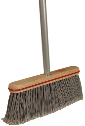 6 Pack Harper Brush 10804A 12' Smooth Surface Upright Broom w/Handle
