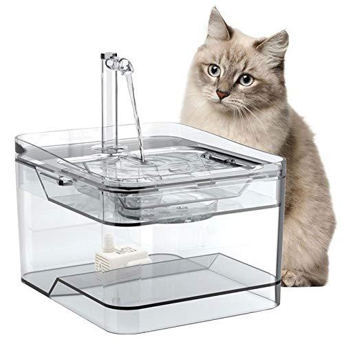 LIFF 2021 Nueva Fuente para Mascotas Perro Gato dispensador de Fuente de Agua Transparente súper silencioso dispensador de Agua para Mascotas Ultra silencioso USB Fuente de Agua para Mascotas