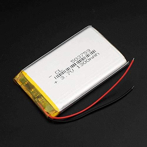 503759 3.7V 1300mAh Batería Lipo Reemplazo Li-Ion Lipo Cells Litio Li-Po Polímero para Altavoz Bluetooth GPS PDA Cámara POS-503759 1300mah 1 Pieza