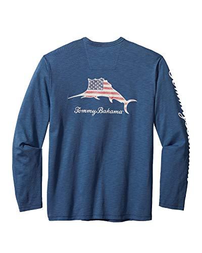 Tommy Bahama Patriotic Billboard Lux T-Shirt (Dockside Blue, X-Large)