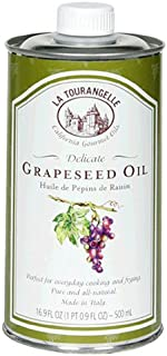 La Tourangelle Grapeseed Oil, 16.9-Ounce Cans (Pack of 4) (Packaging may Vary)