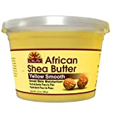 OKAY | African Shea Body Butter -Yellow Smooth | All Natural, 100% Pure-Unrefined | For All Hair & Skin Types | Adds Shine, Luster To Hair | Moisturize & Soothe Irritation | With Vitamin A&E