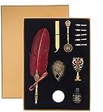 limewie - Set de pluma estilográfica, diseño retro, lápiz para caligrafía, pluma, plum...