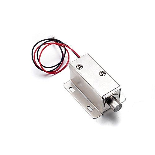 ATOPLEE Tür-Fach-Zunge-Down-Elektroschloss Montag Magnet DC 12V Slim Design Lock, 4 Größen, 2 Stück (0.8A, 55x42x39mm)