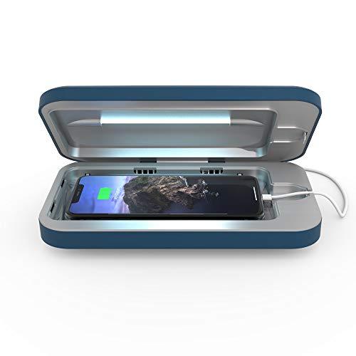 PhoneSoap Desinfectante para Teléfonos Inteligentes Y Cargador Portátil A Batería  Desinfectante De Luz Ultravioleta Patentado Y Clínicamente Probado  (Índigo)