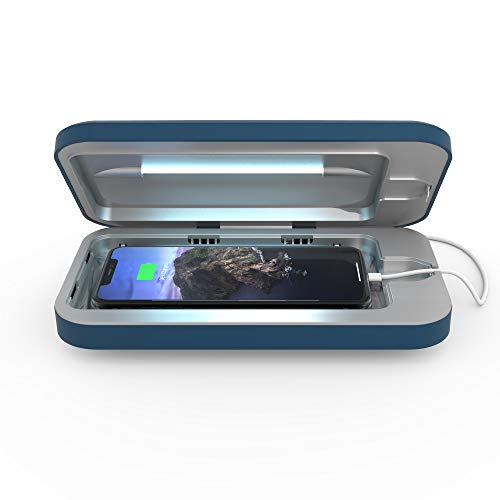 PhoneSoap Go Battery-Powered Smartphone Sanitizer & Portable Charger | Patented & Clinically Proven UV Light Disinfector | (Indigo)