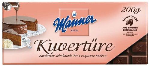 Manner Kuvertüre Zartbitter - 200gr - 2x