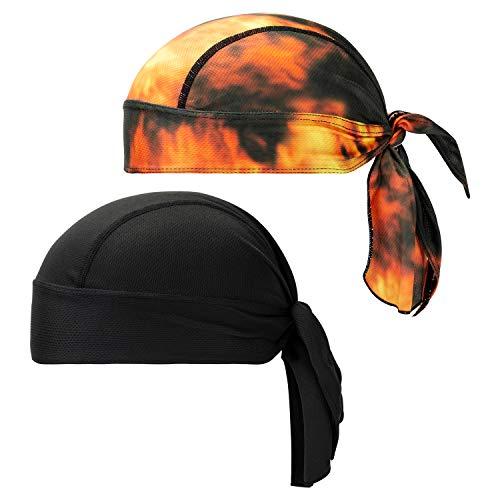 CICMOD Bandana Cap Sport Outdoor Fahrrad Kopftuch Men Women Atmungsaktive Kopfbedeckung Sport Bandana 2 Pack
