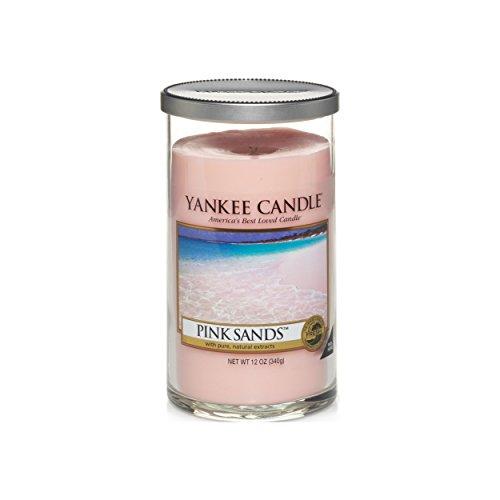 Yankee candle Pillar Candele Décor Pink Sands, Rosa, 8.3x8.3x13.9 cm