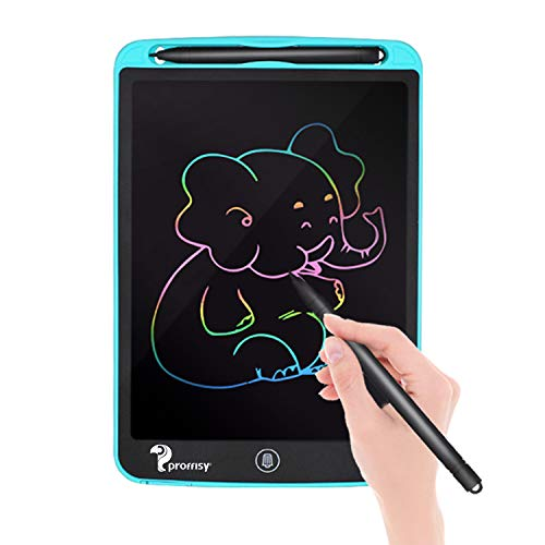 Proffisy Colourful Screen LCD Writing Tablet Pad 8.5 Inch Color Line E-Writing Electronic Board and Scribble MeMO Notes with 2 Magnet for Kids and Adults at Home,School and Office Multicolor (Blue)