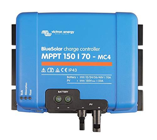 Victron 8719076025528 BlueSolar MPPT 150/70-MC4 (12/24/36/48V-70A), Azul