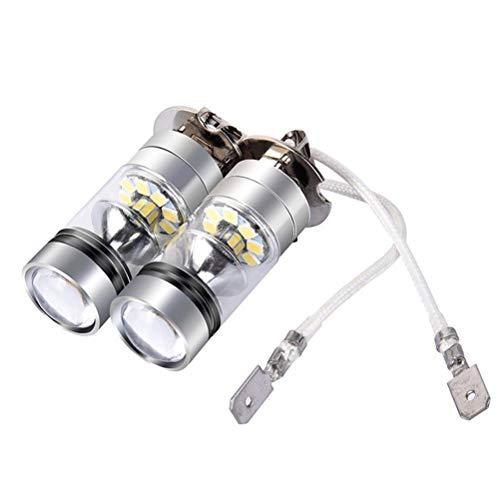 Lanbowo H3 LED Feu de Brouillard 100 W très Lumineux de Voiture Conduite Ampoule Blanc sans Danger