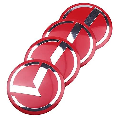 WHALLO Estilo de Coche 4 Uds 56mm K Cubierta Central de Rueda de Coche Tapa de Cubo Emblema de Insignia de Resina Pegatina para KIA Cerato Sportage R K2 K3 K5 Accesorios