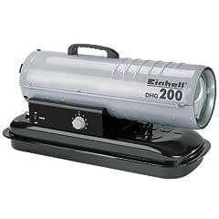 Einhell diesel hete lucht generator DHG 200 (230V, verwarmingscapaciteit 20 kW, 19 l tank, elektrische ontsteking, thermostaat, tank indicator, oververhitting bescherming)*